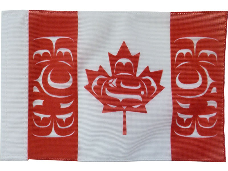 "Canadian Native Motorcycle Flag, 5""x8"""