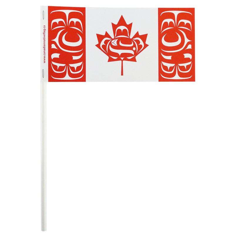 "3"" x 6"" Canadian Indigenous Paper Stick Flag"