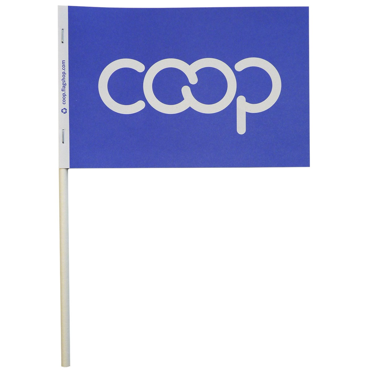 Co-op Paper Stick Flag, Blue