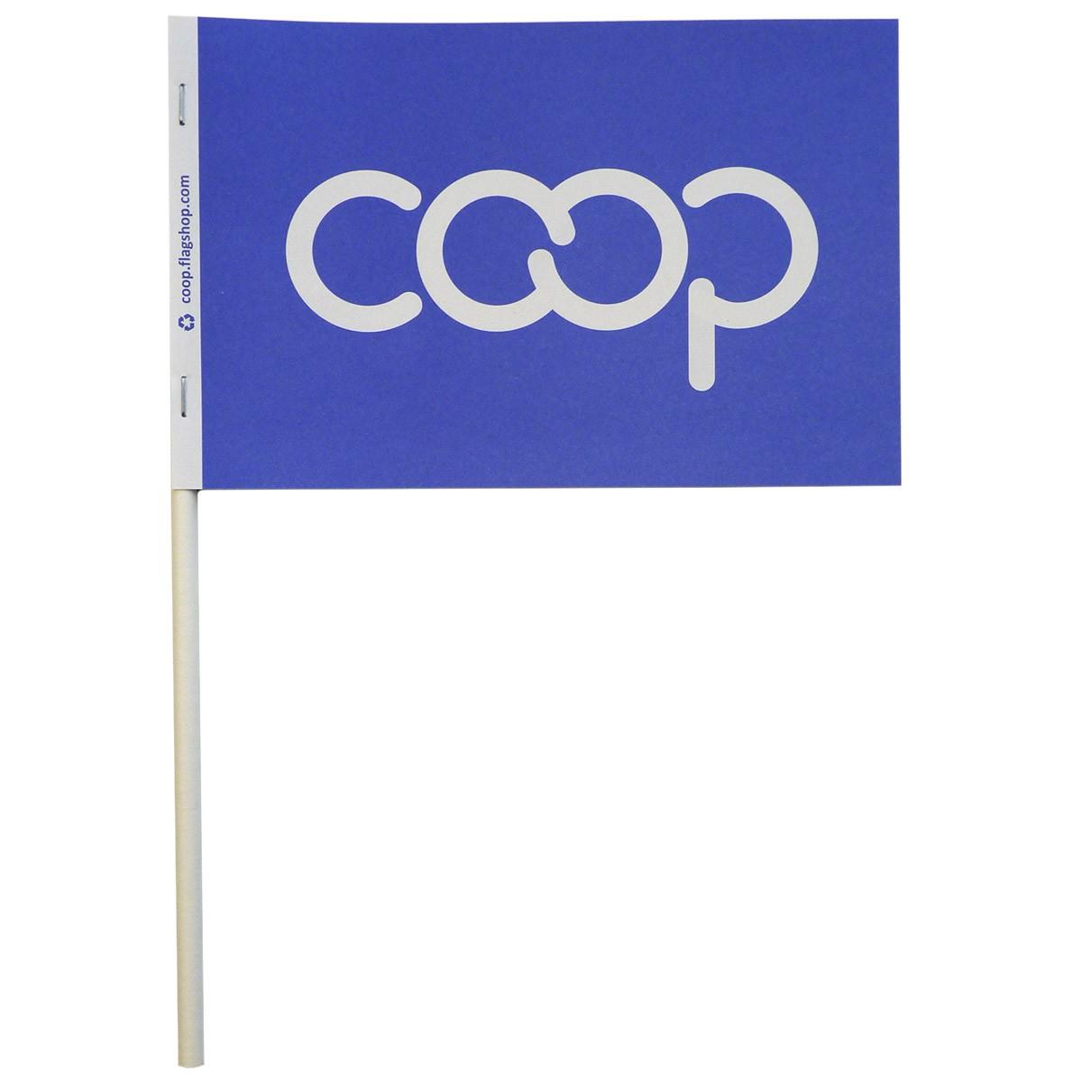 Co-op Paper Stick Flag, Blue