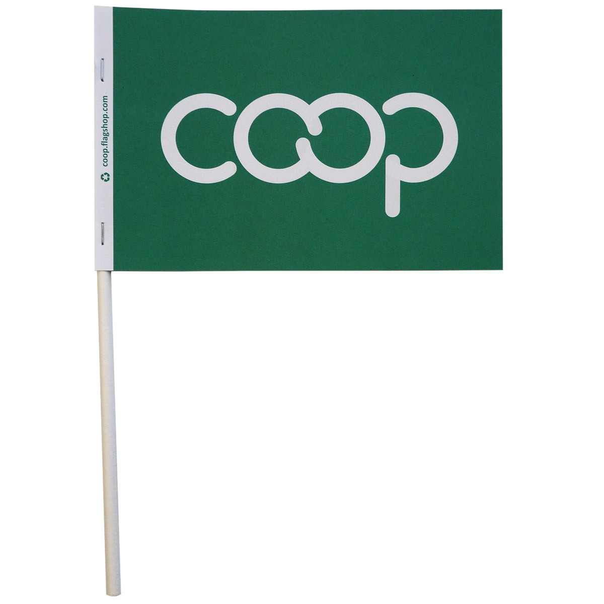 Co-op Paper Stick Flag, Green
