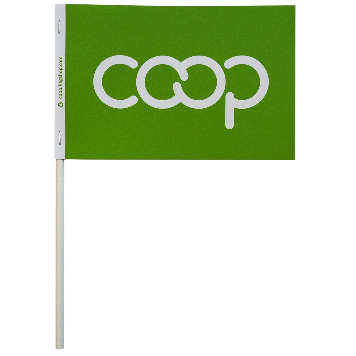Co-op Paper Stick Flag, Lime