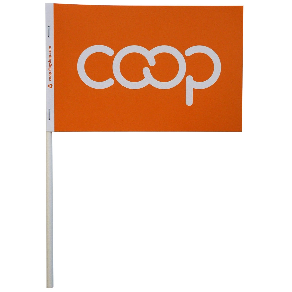 Co-op Paper Stick Flag, Orange