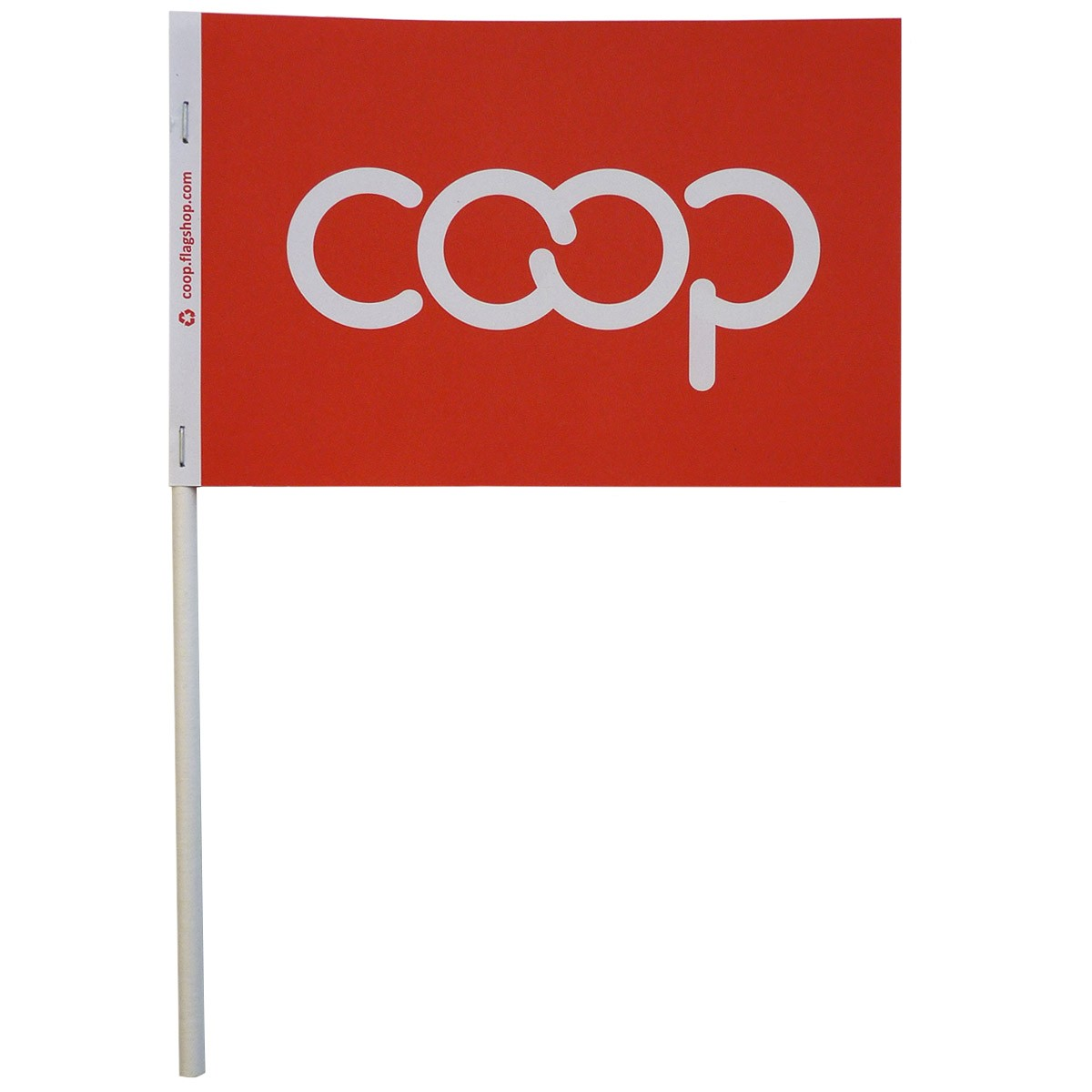 Co-op Paper Stick Flag, Red