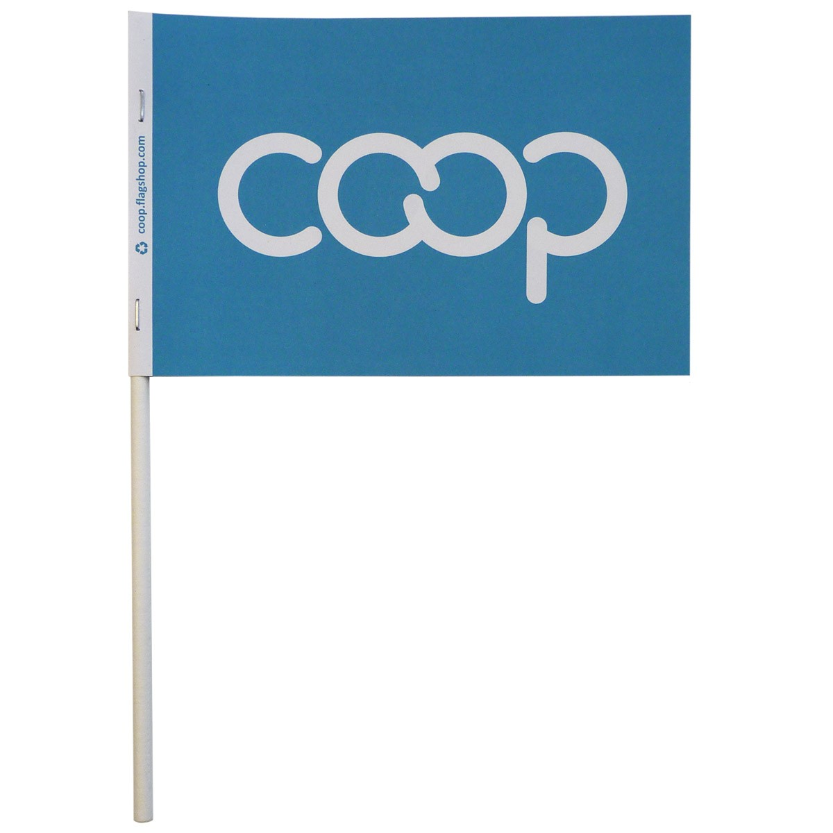 Co-op Paper Stick Flag, Turquoise