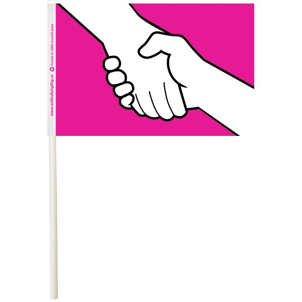"4"" x 6"" Anti-Bullying Paper Stick Flags"