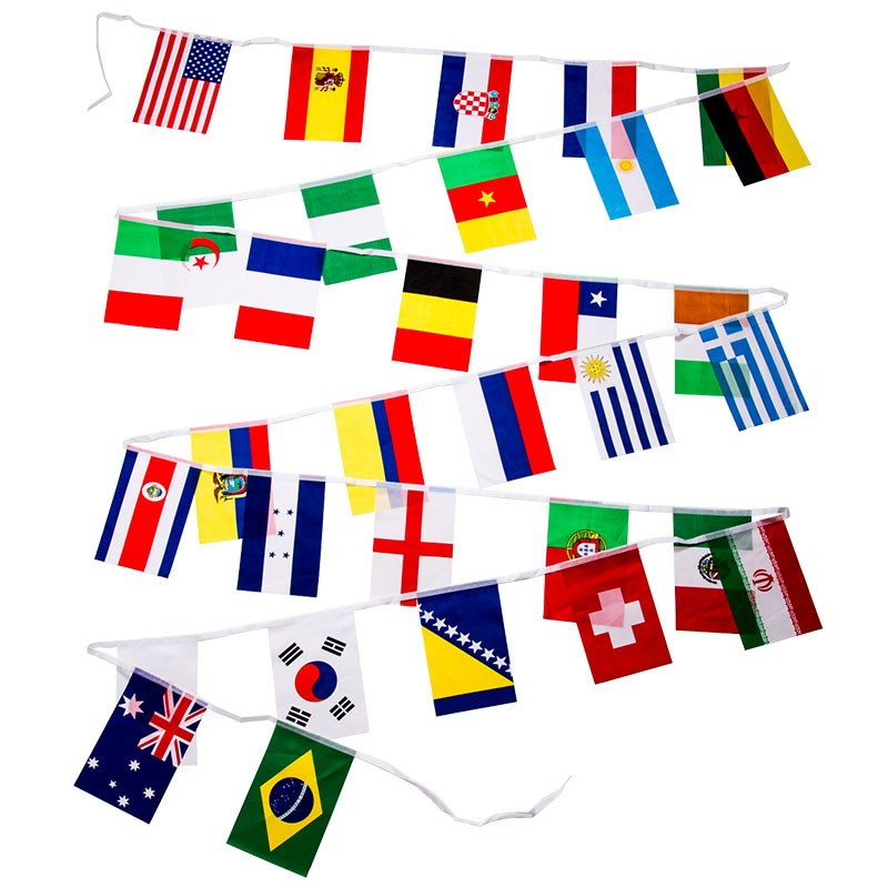 2014 World Cup Soccer Pennant String, 28'