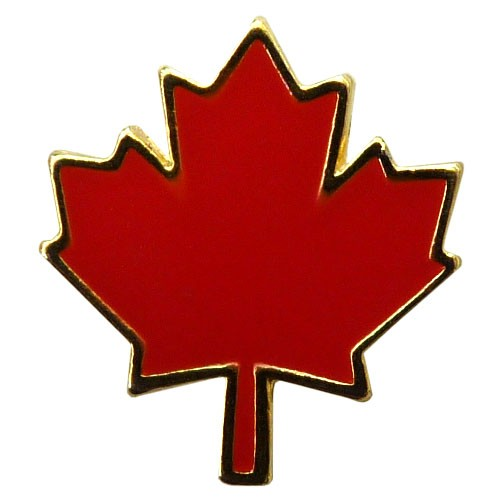 "Canada Maple Leaf Enamel Pin (5/8"")"