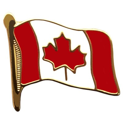 "Canada Waving Flag Enamel Pin (5/8"")"