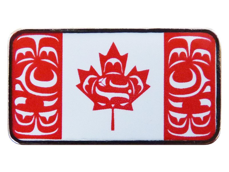 Canadian Native Flag Enamel Pin