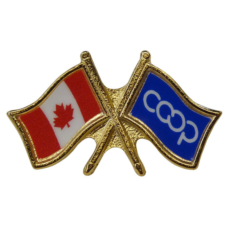 Canada/Co-op Crossed Pin, Blue