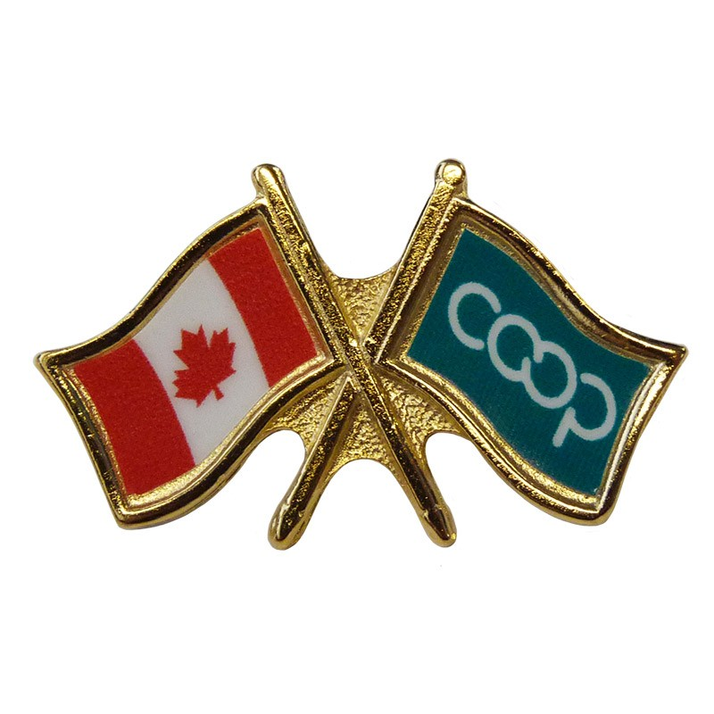 Canada/Co-op Crossed Pin, Green