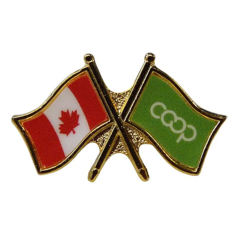 Canada/Co-op Crossed Pin, Lime