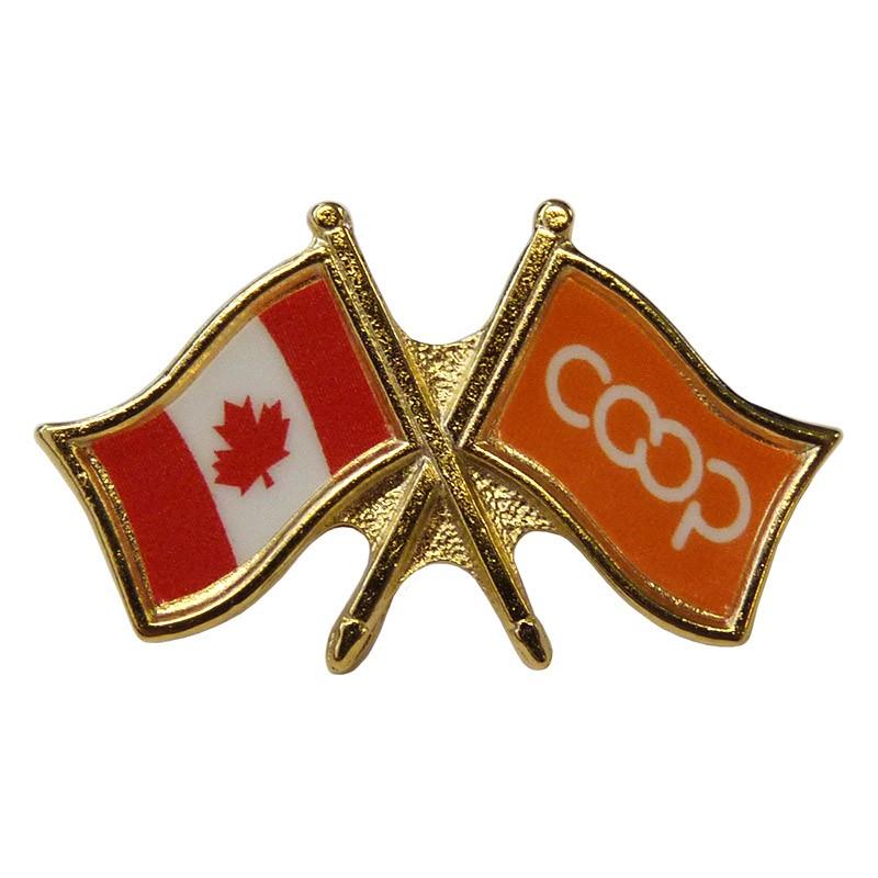 Canada/Co-op Crossed Pin, Orange