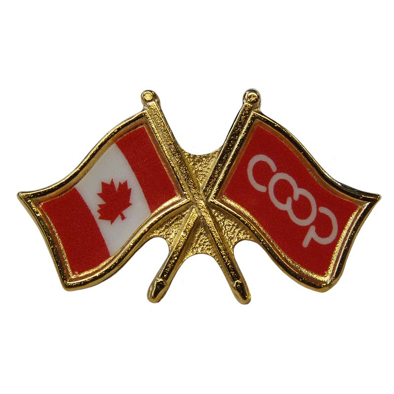 Canada/Co-op Crossed Pin, Red