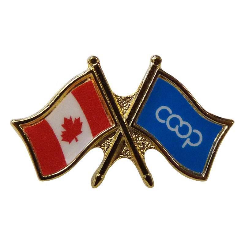 Canada/Co-op Crossed Pin, Turquoise