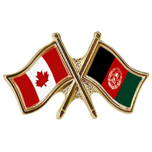 Canada/Afghanistan Crossed Pin