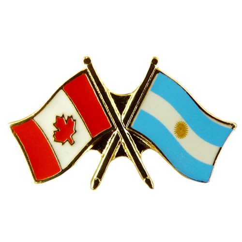 Canada Argentina Crossed Pin Crossed Flag Pin