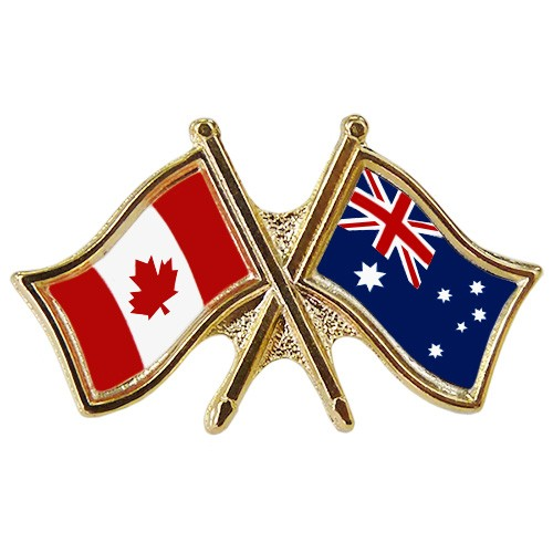 Canada/Australia Crossed Pin