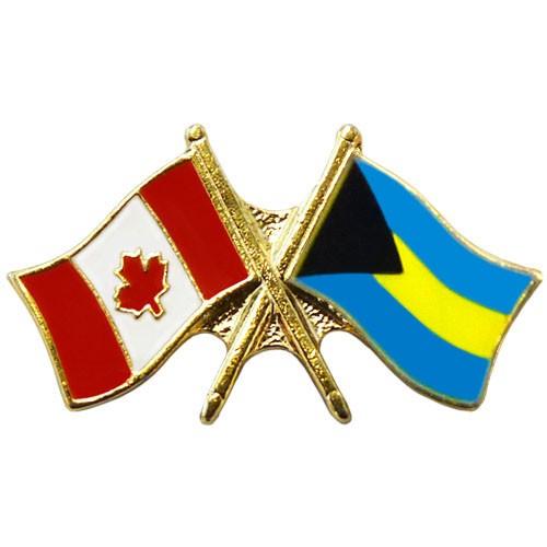 Canada/Bahamas Crossed Pin