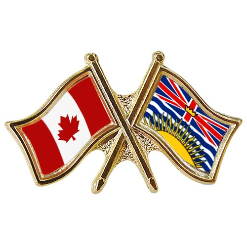 Canada/BC Crossed Pin