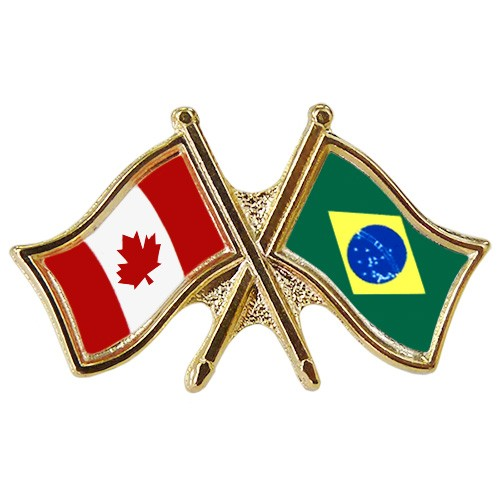 Canada/Brazil Crossed Pin