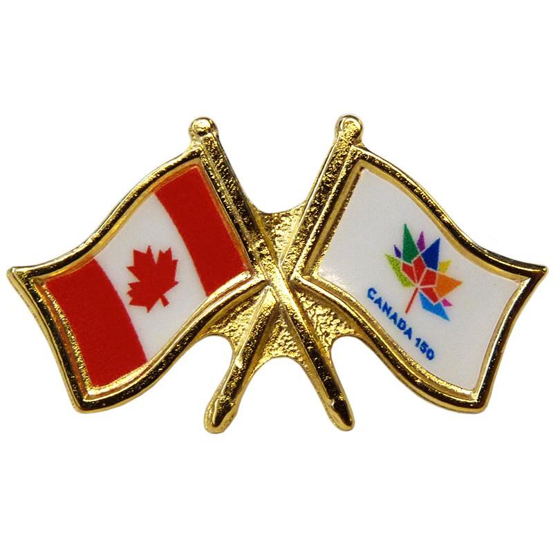 Canada/Canada 150 Crossed Pin