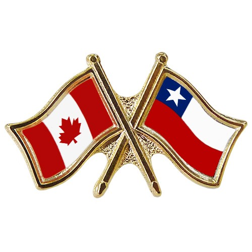 Canada/Chile Crossed Pin