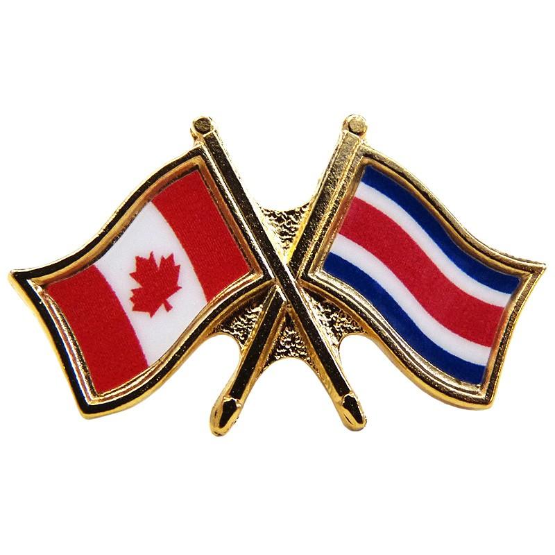 Canada Costa Rica Crossed Pin