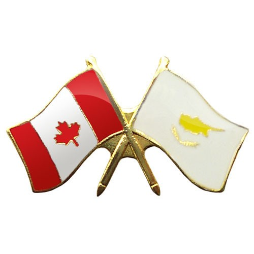 Canada/Cyprus Crossed Pin