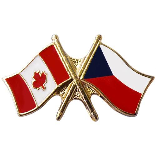 Canada Czech Republic Crossed Pin
