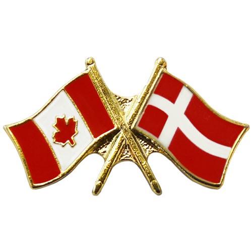 Canada/Denmark Crossed Pin