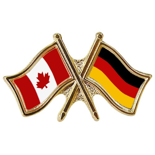 Canada Germany Crossed Pin Crossed Flag Pin Friendship Pin