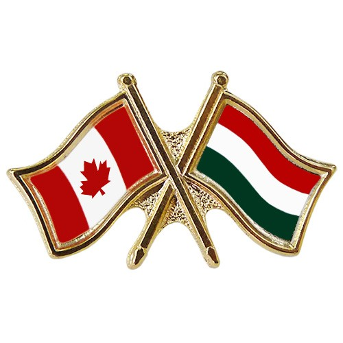 Canada/Hungary Crossed Pin