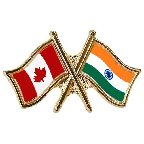Canada/India Crossed Pin