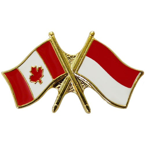 Canada/Indonesia Crossed Pin