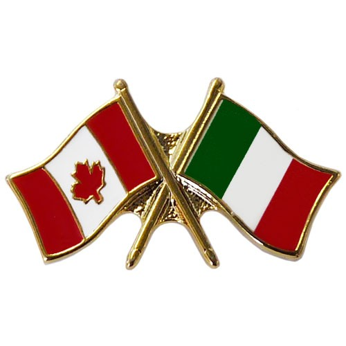 Canada/Italy Crossed Pin
