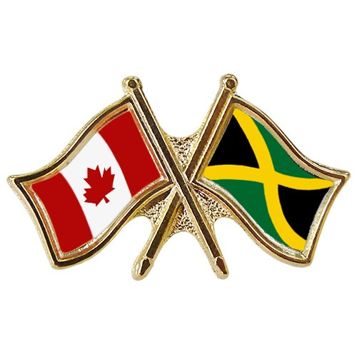 Canada/Jamaica Crossed Pin