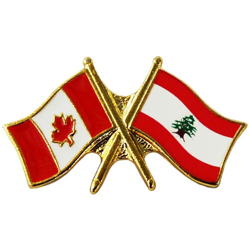 Canada/Lebanon Crossed Pin