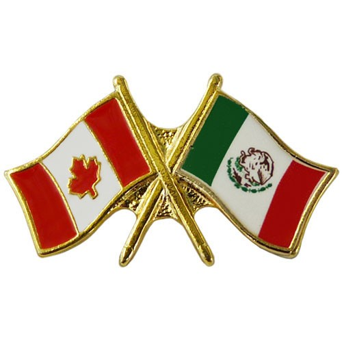 Canada/Mexico Crossed Pin