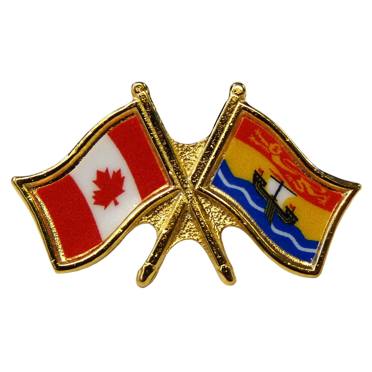 Canada/New Brunswick Crossed Pin