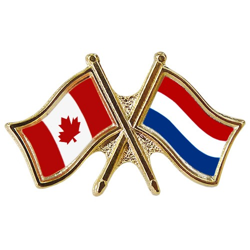 Canada/Netherlands Crossed Pin