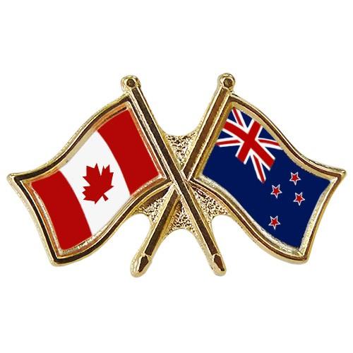 Canada/New Zealand Crossed Pin