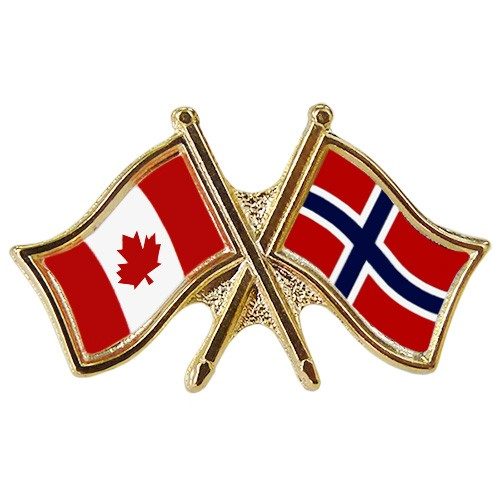 Canada/Norway Crossed Pin