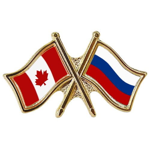 Canada/Russia Crossed Pin