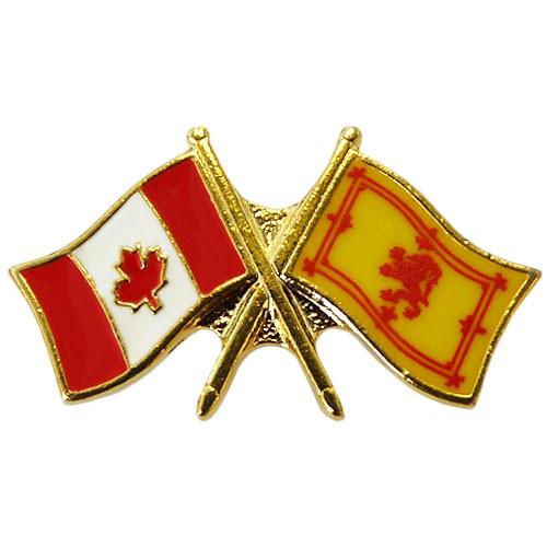 Canada/Scottish Standard Crossed Pin