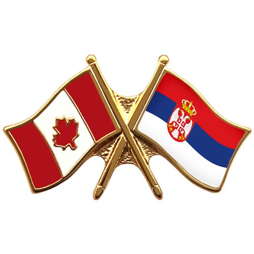 Canada Serbia Crossed Pin Crossed Flag Pin Friendship Pin