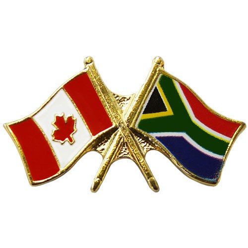 Marvelous Canada/South Africa Crossed Pin