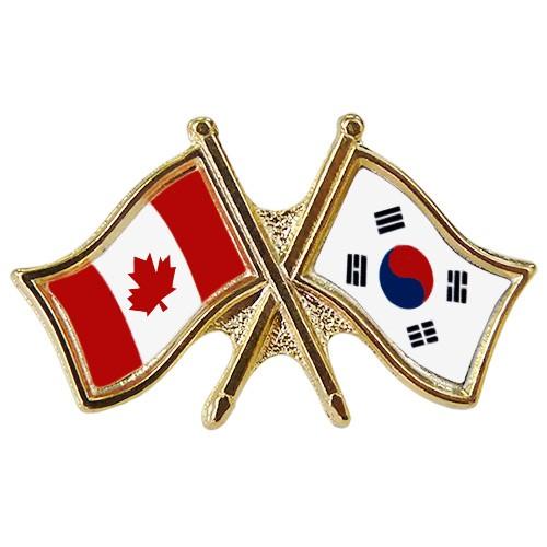 Canada/South Korea Crossed Pin