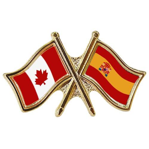 Canada/Spain Crossed Pin
